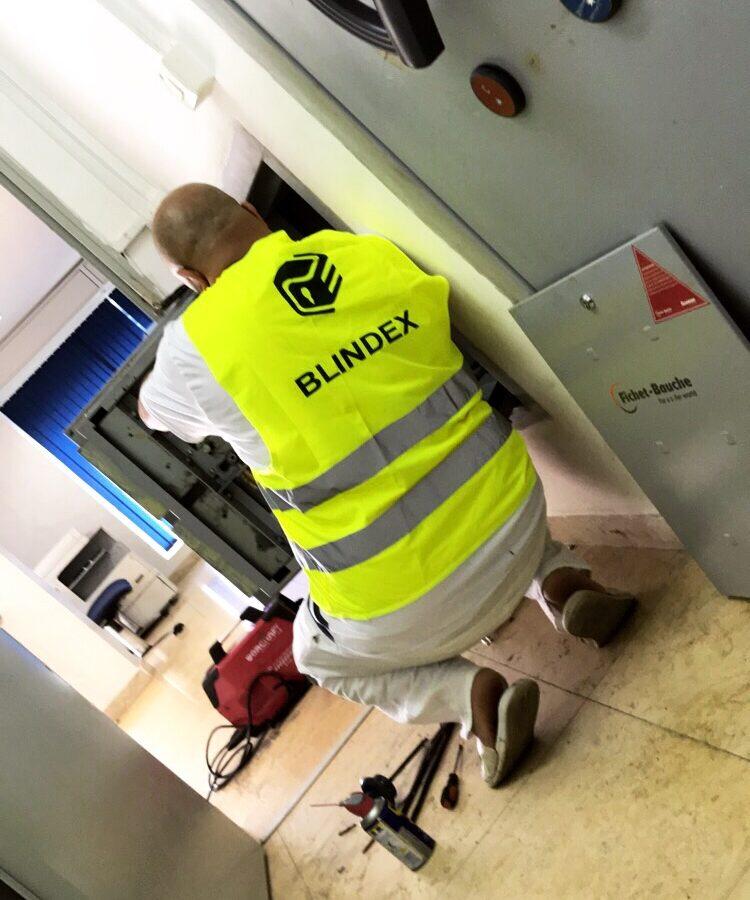 Réparation d'une porte blindée FICHET BAUCHE